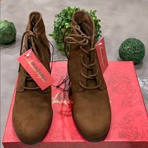 New American Rag suede booties size 8